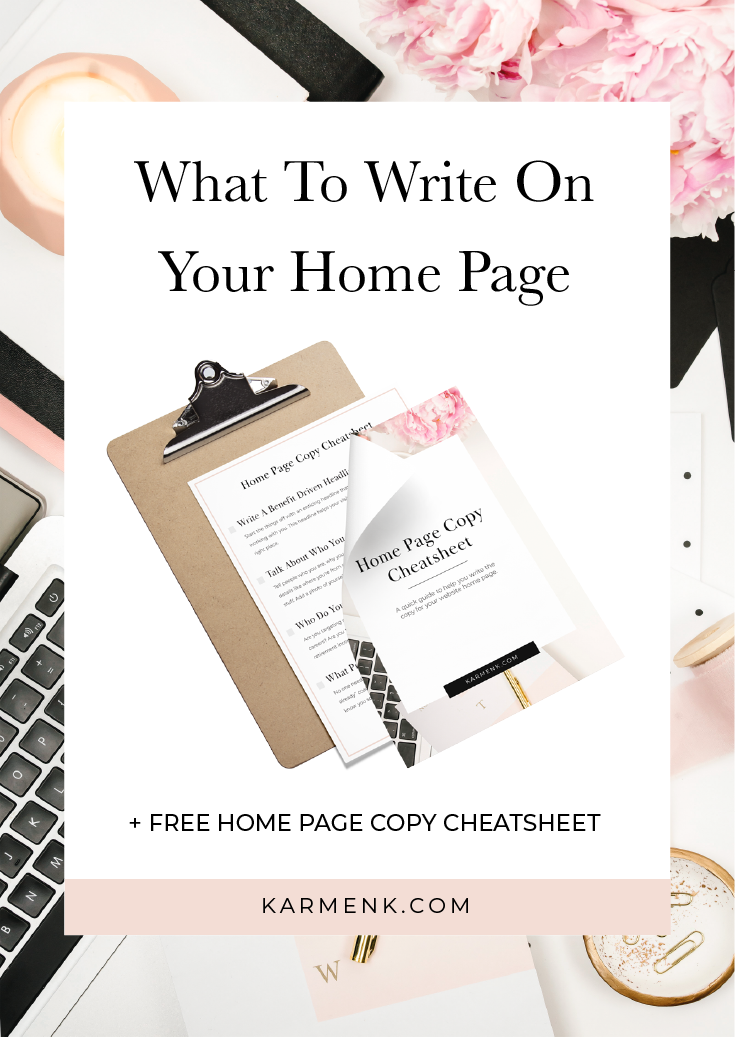 What To Write On Your Home Page