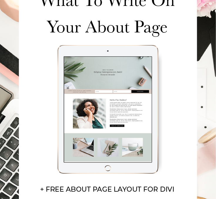 What To Write On Your About Page