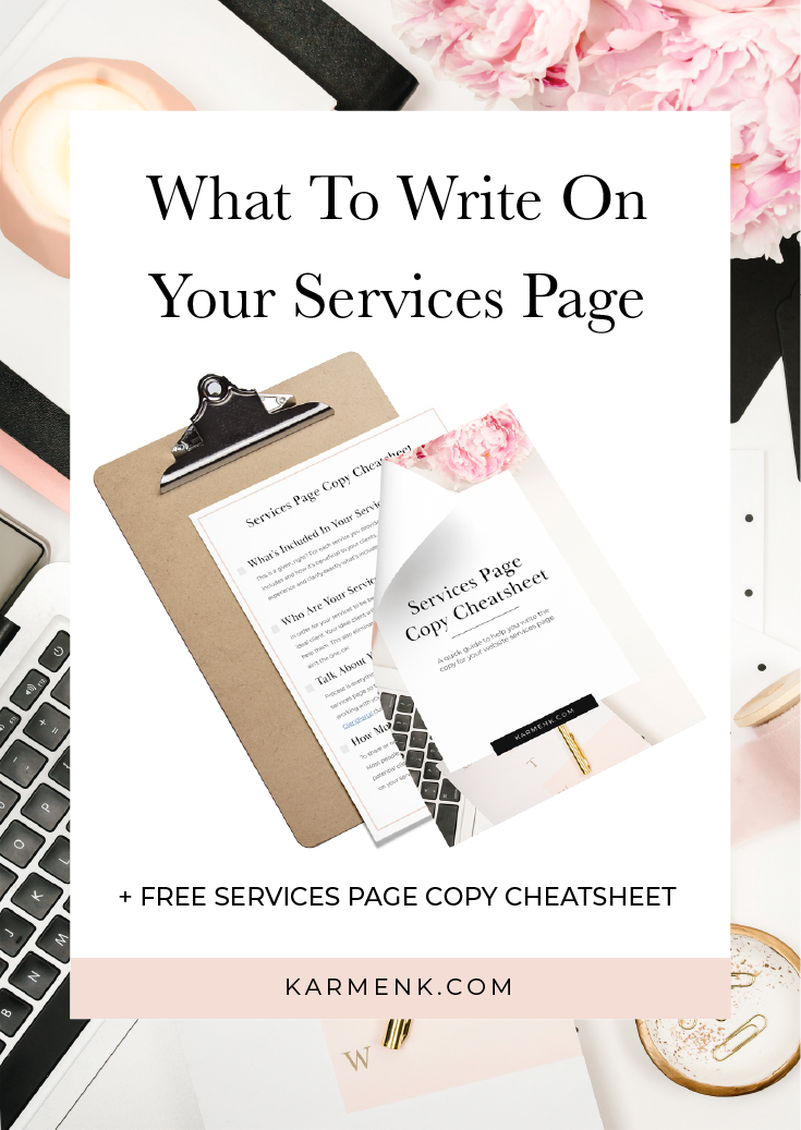 What To Write On Your Services Page