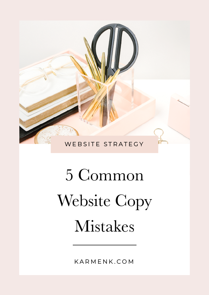 5 Common Website Copy Mistakes