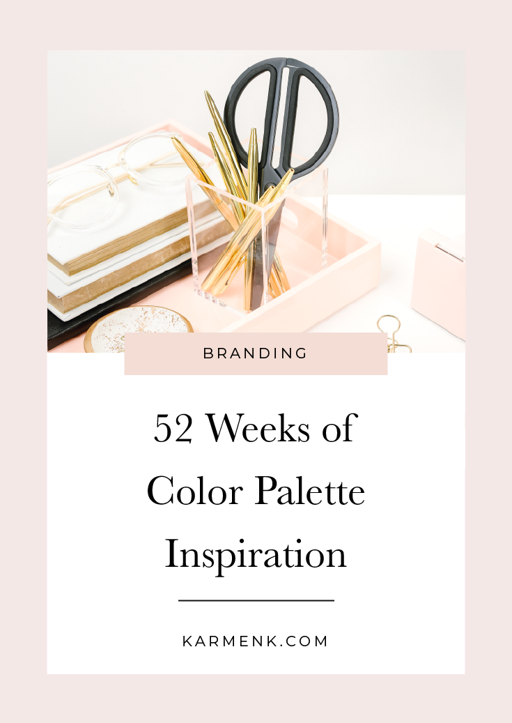 52 Weeks of Color Palette Inspo