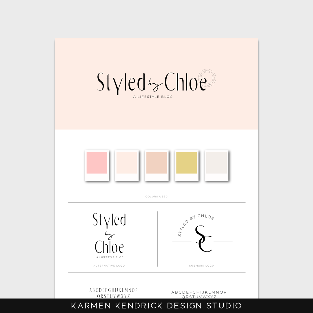 Styled by Chloe customizable logo template