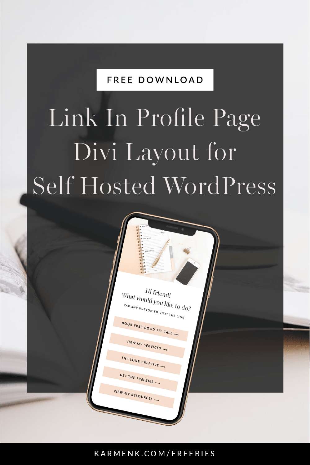 Instagram link in profile page divi layout for wordpress